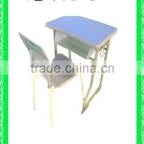children's modern plastic cheap school desk with bench HXZY037