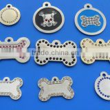 Custom metal decorative dog tags/bling bling pet tag