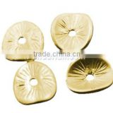 Alloy Bead Spacers, Antique Golden, Nickel Free, about 9.5mm long, 8.5mm wide, 1mm thick, hole: 1mm(EA11067Y-NFG)