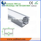 ceiling decoration led strip Recessed aluminium profile