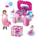 Multifunction Portable Dresser Set Beauty Set Real Action Play Set with wind can to be a chair for collection box packing
