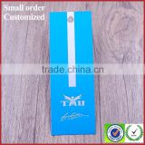 Blue coated gold paper swing tag cards for brand clothes jeans