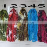 New Women's Fashion Georgette Long Wrap Shawl Beach Silk Scarf Scarves silk scarves digital printing