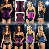 women photos corset girdle, Steel bone Colorful 3 hook waist training latex waist training body shaper