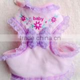 Pet Purple Butterfly Flowers Harnesses/ Dog baby Harnesses with Flower and Butterfly/soft mesh and Leashes