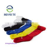 Aliexpress best selling football compression socks with customized logo. 5 colors cotton sport socks