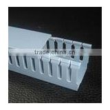 Good quality square wiring duct electrical pvc floor plastic slotted cable trunking