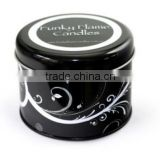 small round metal candle tin wholesale