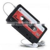 50pcs/lot 3D Retro Cassette magnetic Tape Pattern Silicone Case Back Cover For Apple iPhone 5