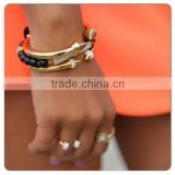 Fashion bangle double-headed arrow rivet allibaba com
