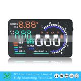 "Wholesale 5"" GPS Car HUD Head Up Display OBD 2 car Speedometer ,hud display XY-HUD208"