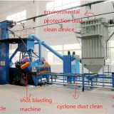 automatic roller type sand blasting machine for aluminum profile