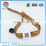 INquiry about Printable Fabric RFID Wristband For Event/Party With QR Code PVC Card