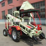2 row agricultural combined 4 wheel peanut harvester
