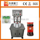Semi-automatic vacuum glass jar capping sealing machine