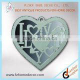 Decorative heart shaped fancy mirror frame