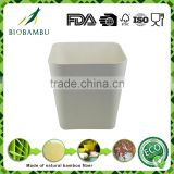 Environmental no pollution protable bamboo fiber powder salad/ bread bucket