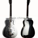 Metal body string musical instrument, single cone resonator guitar, 40'' Resophonic guitar