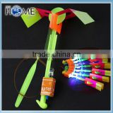Practical Children Kid LED Toys Flying Rocket Arrow Helicopter Parachute Cheap Toy Parachute Amazing LED Arrow Helicopter