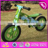 2017 New design original work cartoon wooden balance bike without pedals for toddlers W16C175