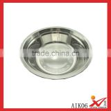 stainless steel round soup plate with strong quality