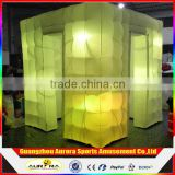 Hot sale 3D LED inflatable photo booth enclosure LED wedding inflatable photobooth shell