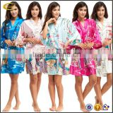 Ecoach wholesale high quality women's robe half sleeve sexy satin kimono wedding Bridesmaid Robe