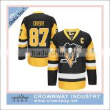 men ice hockey jersey with custom printing embroidery