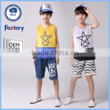 Summer wholesale boys sleeveless t shirt 100% cotton kids sleeveless t shirt chidren vest