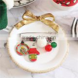 Resin Pin Brooches Glove Christmas Tree Silver Tone Multicolor Red Rhinestone Bulk Brooch
