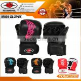 MMA Thai Gym Muay Punching Bag Half Mitt Train Sparring Kick Boxing Gloves Pad