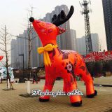 3m Height Red Inflatable Christmas Reindeer for Outdoor Decoration