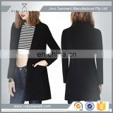 Long sleeve Fit Lady wear suit jacket factory professional OEM new design black casual fashion suit ladies black suit