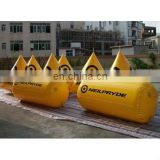 cylinder shape water event use inflatable marker buoy