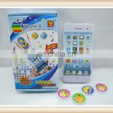 plastic shooting disc launcher toy mobile phone for kids