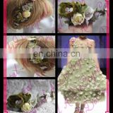 Aidocrystal bridal hair piece,wedding hair flower fascinators, fashion women hair accessories