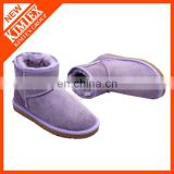 classical purple ankle winter boots