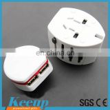 100% Top quality cheap multi-nation uk travel adapter with usb charger from chinese wholesale house