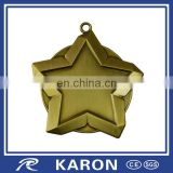 antique plated star shaped blank medal for engraving