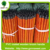Wholesale PVC coated wooden broom handle cleaning mop sticks