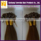 High quality products pre-bonded flat tip fusion hair remy human hair