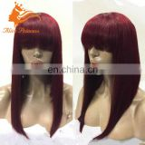 Virign Brazilian Hair 7A Full Lace Wig Unprocessed Silky Straight Rainbow Bug Lady Human Hair Wig Wholesale