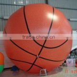 2016 Popular inflatable helium basketball balloon ,inflatable helium sports ball for sell,inflating soccer basketball balloon