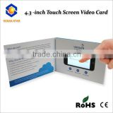 "Digital 2.4"", 4.3"", 5"", 7"", 10.1"" usb video greeting card module / video player greeting card / greeting card video player"