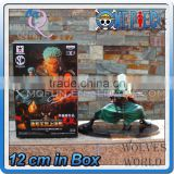 MINI QUTE 12 cm japanese anime Pirates one piece action figure Roronoa Zoro Solon with sword brinquedos boys in box NO.MQ 076