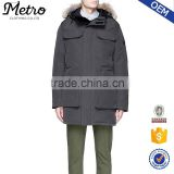OEM men long duck down coat winter lightweight down jacket