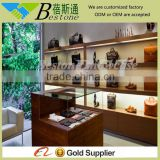 2015 latest wooden furniture showcase bag display stand
