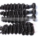 Deep wave human hair lace frontal closure, deep wave hair Brazilian virgin                                                                                                         Supplier's Choice