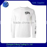 Long Sleeves New Designed Printed Custom T shirt O-neck                                                                                                         Supplier's Choice
