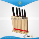 KITCHEN KING high quality double color forged handle 5pcs stainless steel knife set with wooden block